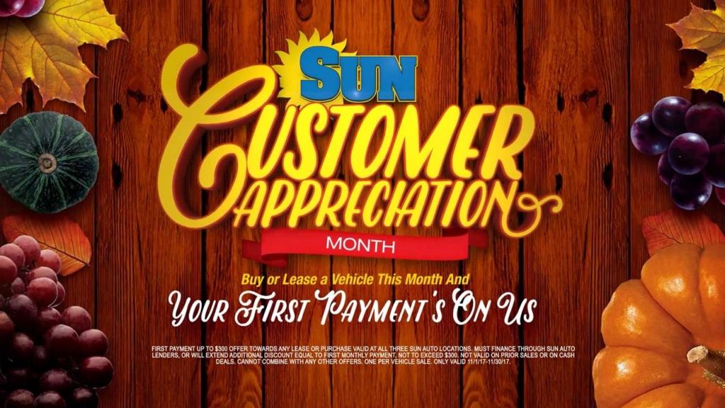 Sun Auto Customer Appreciation Month 30