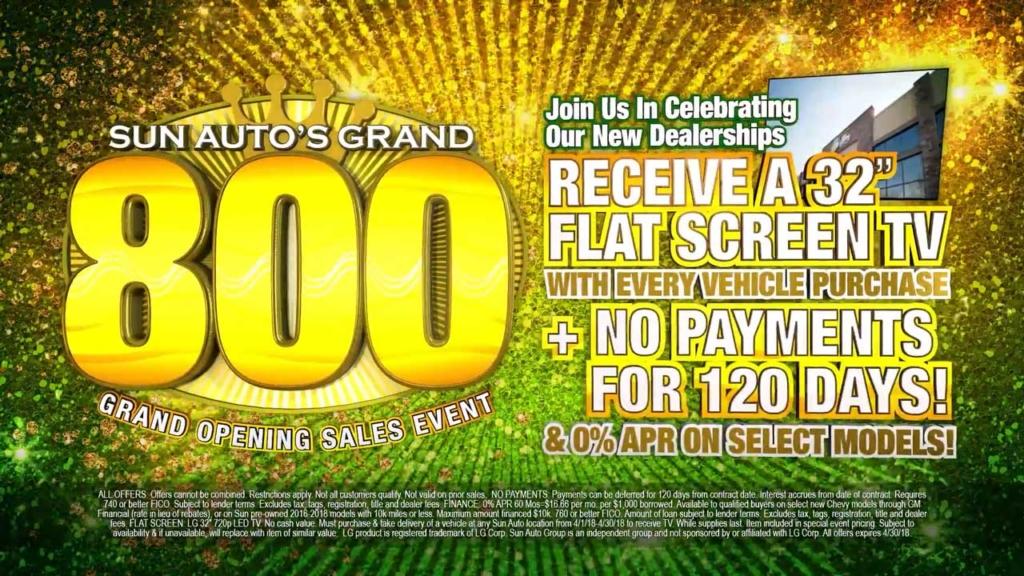 Sun Auto - Grand 800 Sales Event